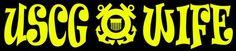 USCG Wife Vinyl Decal United States Coast Guard USCG Sticker Military | LilBitOLove - Housewares on ArtFire
