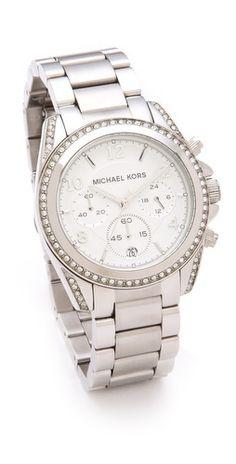 Michael Kors blair silver ladies watch.