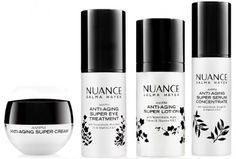 Nuance Salma Hayek Skin Care Products - resurfacing pads contain alpha-hydroxy and lactic acids. $20 at CVS.
