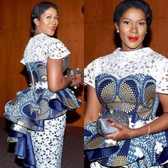 Latest Ankara Dress Styles - Loud In Naija African Lace Styles, African Lace Dresses, African Dresses For Women, African Attire, African Women, African Blouses, African Style, African Fashion Ankara, Latest African Fashion Dresses
