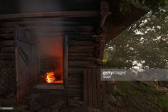 Stock Photo : Traditional finnish smoke sauna