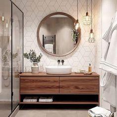 Bathroom Decor master home accents luxury Bathroom inspiration // Cozy bathroom , Cozy Bathroom, Bathroom Inspo, Wc Bathroom, Budget Bathroom, Remodel Bathroom, Small Bathroom Inspiration, Light Bathroom, Round Bathroom Mirror, Bathroom Cleaning