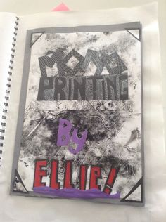 The front cover of my mono printing book.