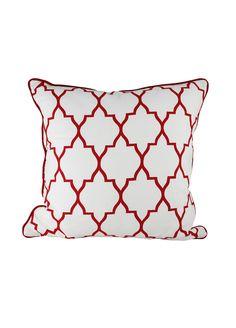 Zanzibar Reverse Red Cushion Cover