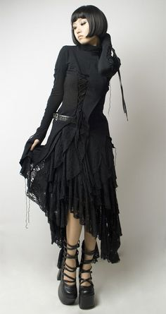Q-079 Gothic Fashion Skirt from Punk Rave