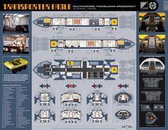 Space1999 (Mondbasis Alpha 1) Eagle Transporter Spaceship | Gerry Anderson