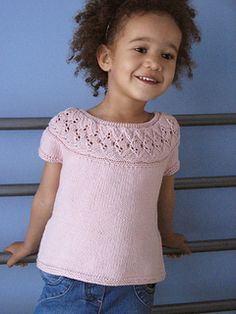 Ravelry: Bellflower pattern by Ewelina Murach Knitting For Kids, Baby Knitting Patterns, I Cord, Garter Stitch, Baby Sweaters, Lana, Knit Crochet, Kids Outfits, Clothes
