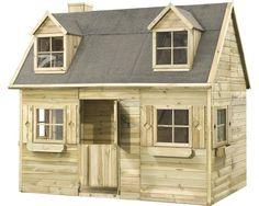 umweltfreundliches spielhaus f r kinder aus fichtenholz kinderspielhaus holzhaus garten tf. Black Bedroom Furniture Sets. Home Design Ideas