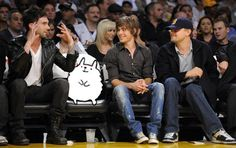 Hanging with Leo, Ashton and Adam.