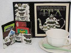 Quilted Tea Mug Rug with Matching Tea by HiddenLakeHomespuns, $15.50