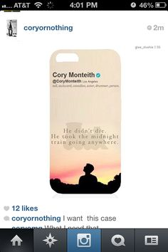 Cory Monteith iPhone case.