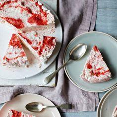 Iced Strawberry Meringue Cake