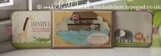 New Baby card using Zoo Babies from Stampin' Up! - Stampin Up Demonstrator Michelle Last
