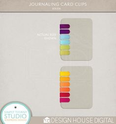 journal card clips by simply tiffany