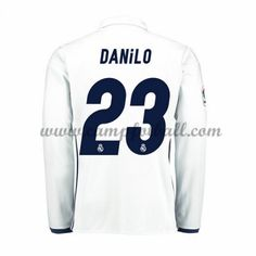 Real Madrid Fotballdrakter 2016-17 Danilo 23 Hjemmedrakt Langermet
