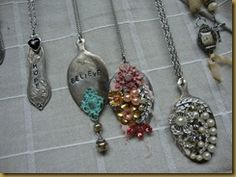 Spoon necklaces with bling!