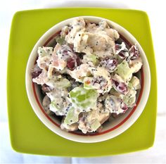 Sonoma Chicken Salad      Ingredients:  1 Rotisserie Chicken, skin and bones removed, roughly chopped  2 stalks celery, finely diced  1 cup green grapes, cut in half  1 cup red grapes, cut in half  1 cup dried cranberries  1 cup pecans, toasted and chopped    Dressing:    1/2 cup sour cream  1/2 cup mayonnaise  2 tablespoons fresh lemon juice  2 tablespoons poppy seeds  Salt and Pepper to taste
