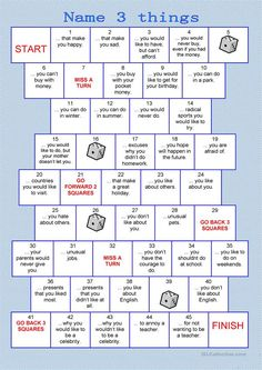 The series board games should be a funny, playful way to practice vocabulary and grammar orally. The instructions for the teachers are included.If you like this game, you can find more board games h Games For English Class, English Activities, Learning Activities, Elderly Activities, Social Work Activities, Senior Citizen Activities, Communication Activities, Group Activities For Adults, Kids Learning