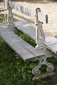 Double Sided Chippy White Bench