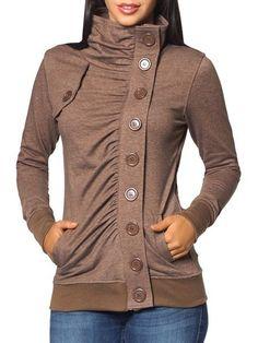 Front Ruffled Charming Band Collar Hoodies #ClothingOnline #PlusSizeWomensClothing #CheapClothing #FashionClothing #womenswear #sexydress #womensdress #womenfashioncasual #womensfashionforwork #fashion #womensfashionwinter