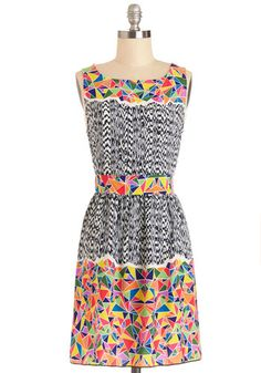 Partial to Prints Dress. In the mood to experiment with color and motif today? #multiNaN