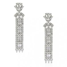 Bling Jewelry CZ Bridal Art Deco Drop Earrings 925 Sterling Silver Bling Jewelry. Save 8 Off!. $179.99. .925 sterling silver. cubic zirconia. 2.15in L x .35in W. Total Weight 11 grams. Bridal art deco drop earrings