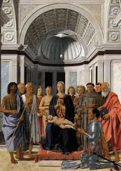 Madonna and Child with Saints (Montefeltro Altarpiece) : PIERO della FRANCESCA : Art Images : Imagiva