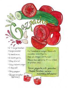 Gazpacho recipe.