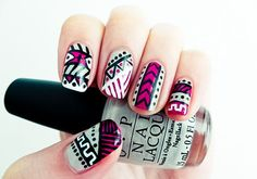 tribal nails! too bad I'm lazy to even attempt this.