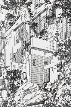 ckarch:    From the Houses series, by Lebbeus Woods, 1979.