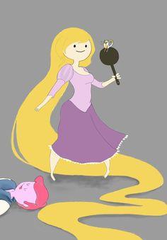 Princess Bubblepunzel---but I kind of feel like Marshall Lee should be lying there ;)