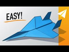 > Watch the video Learn < EASY Paper Airplane! How to make an Amazing Paper Jet, Designed by Project Paper - Paper Airplane Folding, Make A Paper Airplane, Paper Airplane Models, Airplane Drawing, Paper Folding, Paper Planes, Cool Paper Crafts, Diy Paper, Best Paper Plane