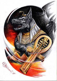 anubis cover up Egyptian Anubis, Egyptian Symbols, Egyptian Art, Blackout Tattoo, Black Art Pictures, Wolf Tattoo Design, Desenho Tattoo, T Art, Arte Horror