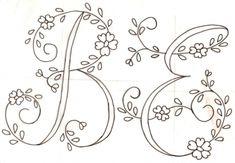 Letras para bordar sabanas gratis - Imagui