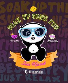 Time for a panda to soak up the Summer Fun  www.lilpanda.com