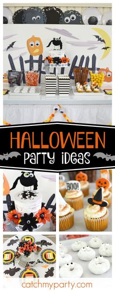 Check out this awesome Eye Spy a Halloween Party! The cupcakes are so cute!! See more partyideas and share yours at CatchMyParty.com #halloween #halloweenparty