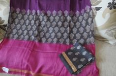 Tussar Silk Sari by ZainabBoutique on Etsy