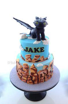 Dragon Cake. How to train your dragon cake. Sugar Dragon.