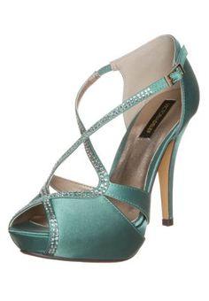 High Heel Sandalette - aqua