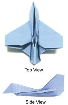 How to make a simple origami airplane (fighter jet plane): page 1 How To Make Origami, How To Make Paper, Simple Origami, Origami Airplane, Paper Art, Paper Crafts, Airplane Fighter, Diy Fan, Diy Papier