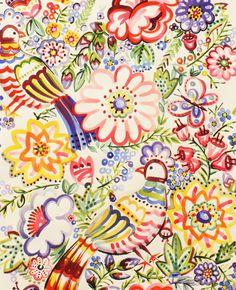 Alexander Henry Talavera Garden in Multi - 2 Yards, via Etsy. Textiles, Textile Prints, Textile Design, Fabric Design, Pattern Design, Textile Art, Motif Floral, Floral Prints, Illustrations
