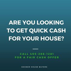 Sell house fast Oklahoma for cash? Sooner House Buyers - Buy Houses in Any Condition (No Need Repairs) Call to get your fair cash offer. House Buyers, Cash For You, Cash From Home, We Buy Houses, Quick Cash, Sell Your House Fast, Real Estate Investor, Oklahoma City, Investors