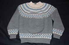 Dale of Norway Sweater Women M 42 Gray nordic Wool Pull over Style #DaleOfNorway #Crewneck
