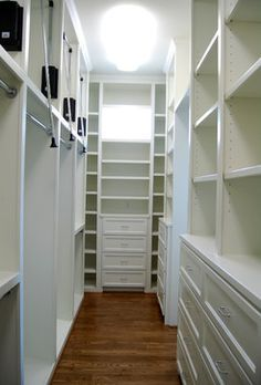 narrow walk in closet design - Google Search