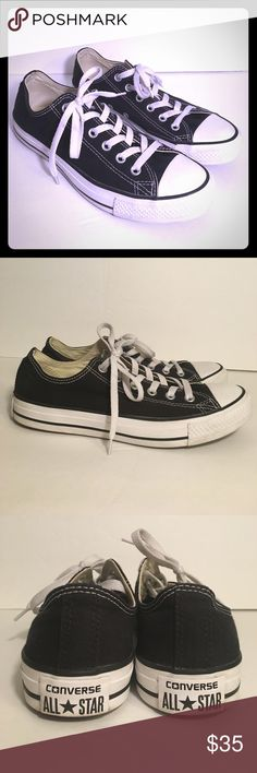 UNISEX CONVERSE CHUCK TAYLOR ALL STAR LOW TOP shoe These UNISEX CONVERSE CHUCK TAYLOR ALL STAR LOW TOP sneakers are in new condition. Barely used (only used twice). The original basketball shoe is now defined as a stylish modern-day fashion staple! The All Star from Converse is a great complement to any casual ensemble.  Canvas lining and a cushioned footbed provides hours of comfort. Original rubber toe box and toe guard, tonal sidewall trim and All Star® heel patch. Signature Converse…