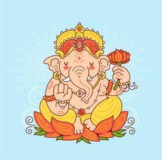Ganesh Chaturthi Greetings, Happy Ganesh Chaturthi, Lord Ganesha, Shri Ganesh, Diwali, Ganesha Tattoo, Ganesha Painting, Indian Elephant, Badge Design