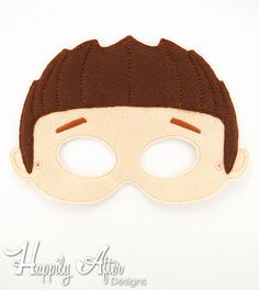 Spikey Hair Boy ITH Mask Embroidery Design - Paw Patrol mask for costumes and parties!