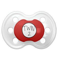 Cute Twin 2 two pacifier