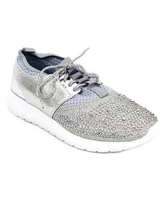 Look what I found on #zulily! Silver Embellished Sneaker #zulilyfinds