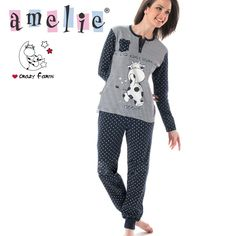 Amelie-Βαμβακερή Πυτζάμα Με Κουμπιά   Στάμπες - Χειμώνας 2015 9074a51fd52